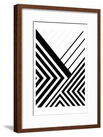 BW Geo Lines 3-Urban Epiphany-Framed Art Print