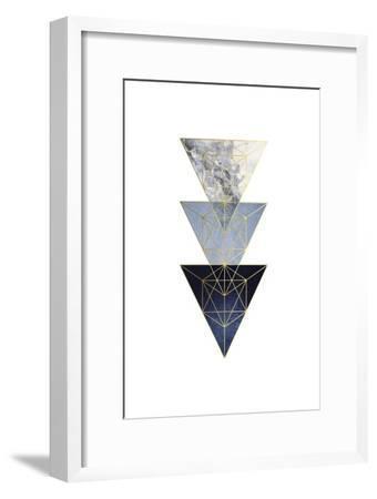 Navy Gold 3-Urban Epiphany-Framed Art Print