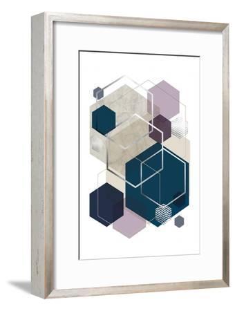 Abstract Geo SoftLuxe-Urban Epiphany-Framed Art Print