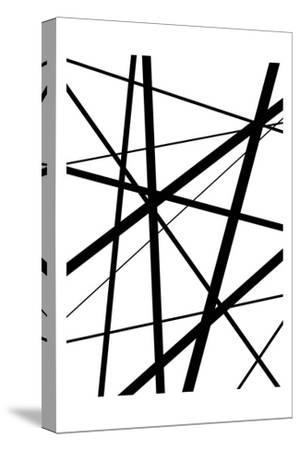 BW Geo Lines 1-Urban Epiphany-Stretched Canvas Print