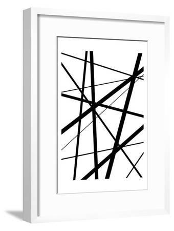 BW Geo Lines 1-Urban Epiphany-Framed Art Print