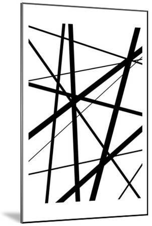 BW Geo Lines 1-Urban Epiphany-Mounted Art Print