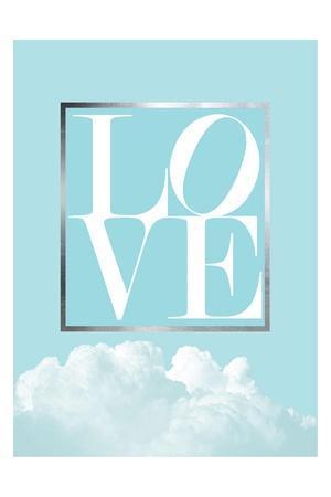Love Joy Geo Turquoise 1-Urban Epiphany-Framed Art Print