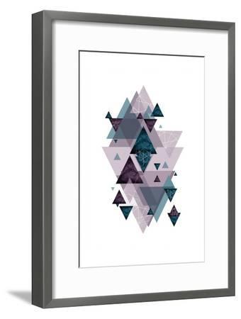 Geo Triangles SoftLuxe-Urban Epiphany-Framed Art Print