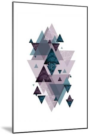Geo Triangles SoftLuxe-Urban Epiphany-Mounted Art Print