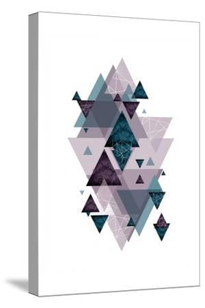 Geo Triangles SoftLuxe-Urban Epiphany-Stretched Canvas Print