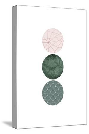 Evergreen Blush Geo 3-Urban Epiphany-Stretched Canvas Print