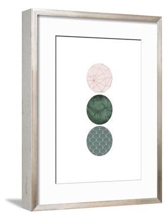Evergreen Blush Geo 3-Urban Epiphany-Framed Art Print