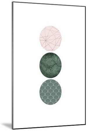 Evergreen Blush Geo 3-Urban Epiphany-Mounted Art Print