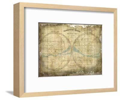 Constellation Map 1-Kimberly Allen-Framed Art Print