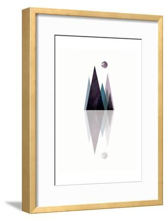 Scandi Mountains Blue 3-Urban Epiphany-Framed Art Print
