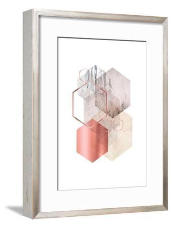 Hexagonal Geo 1-Urban Epiphany-Framed Art Print