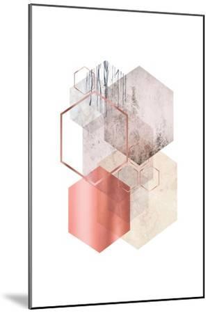 Hexagonal Geo 1-Urban Epiphany-Mounted Art Print