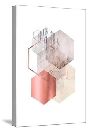 Hexagonal Geo 1-Urban Epiphany-Stretched Canvas Print