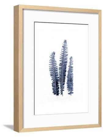 Fern Fronds Navy-Urban Epiphany-Framed Art Print