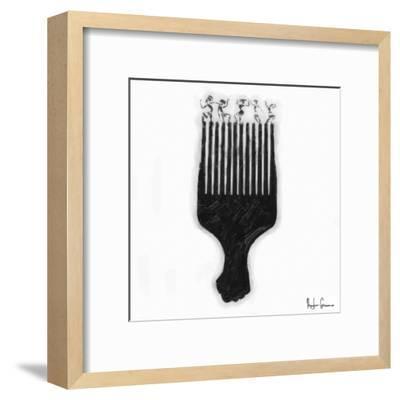 Afro Pick-Taylor Greene-Framed Art Print