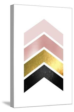 BlushPink Gold 1-Urban Epiphany-Stretched Canvas Print