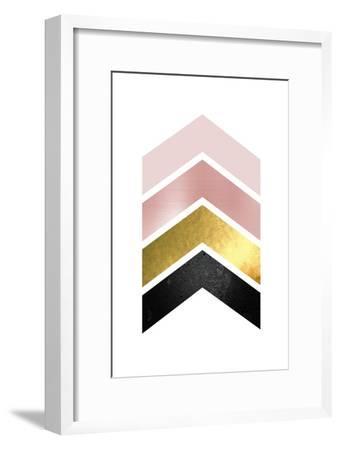 BlushPink Gold 1-Urban Epiphany-Framed Art Print