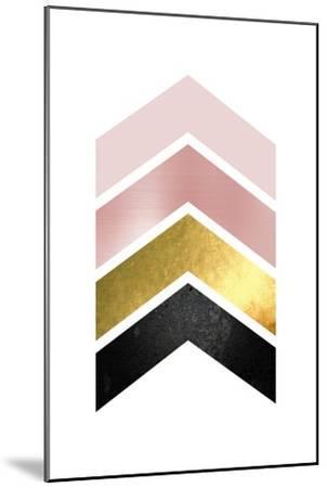 BlushPink Gold 1-Urban Epiphany-Mounted Art Print
