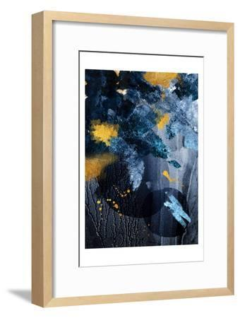 Abstract Blue and Gold-Urban Epiphany-Framed Art Print