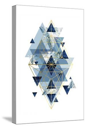 Navy Gold   Geometric-Urban Epiphany-Stretched Canvas Print