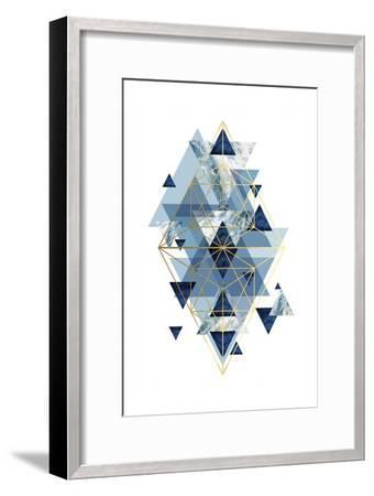 Navy Gold   Geometric-Urban Epiphany-Framed Art Print