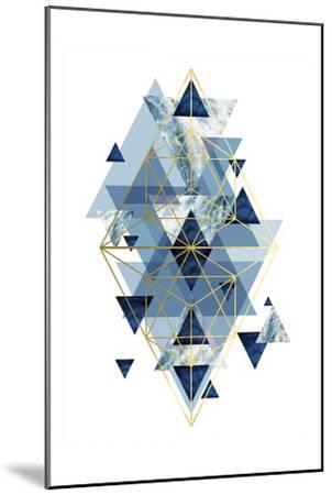 Navy Gold   Geometric-Urban Epiphany-Mounted Art Print