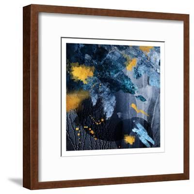 Navy Gold Abstract-Urban Epiphany-Framed Art Print