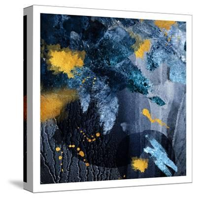Navy Gold Abstract-Urban Epiphany-Stretched Canvas Print