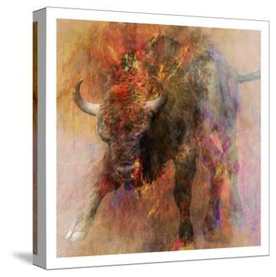 Stampede 2-Sheldon Lewis-Stretched Canvas Print