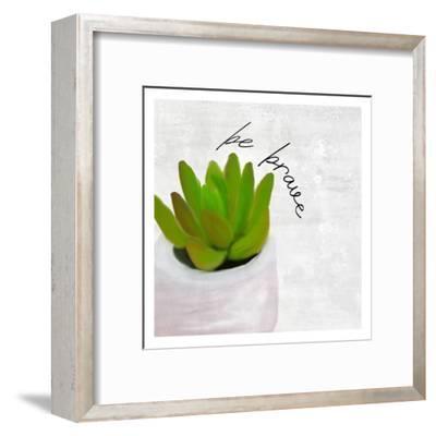 Be Brave 1-Kimberly Allen-Framed Art Print