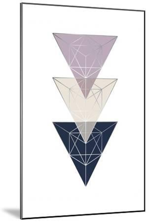Geo Triangle SoftLuxe-Urban Epiphany-Mounted Art Print