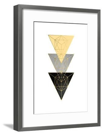 Yellow and Black Geo 3-Urban Epiphany-Framed Art Print