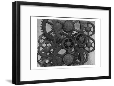 Gears In Motion-Sheldon Lewis-Framed Art Print