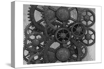 Gears In Motion-Sheldon Lewis-Stretched Canvas Print