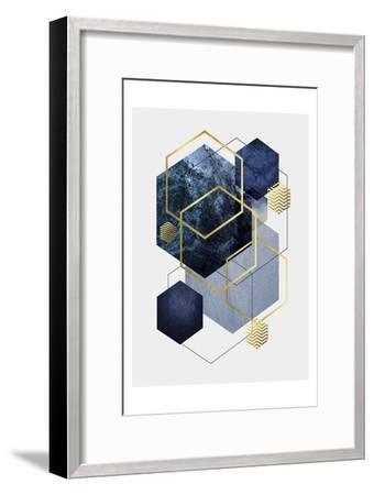 Navy Gold Geo 2-Urban Epiphany-Framed Art Print