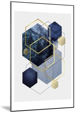 Navy Gold Geo 2-Urban Epiphany-Mounted Art Print