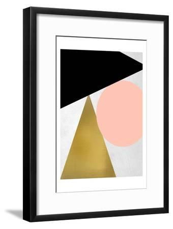 Triangle Circle 1-Kimberly Allen-Framed Art Print