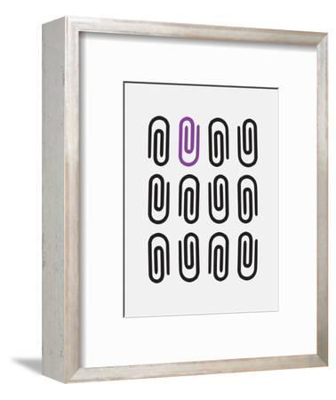 Office Glam_icon_grays-Melody Hogan-Framed Art Print
