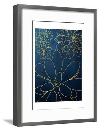 Navy Gold Succulent 2-Urban Epiphany-Framed Art Print