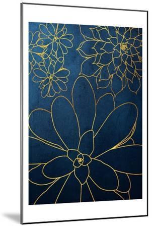 Navy Gold Succulent 2-Urban Epiphany-Mounted Art Print