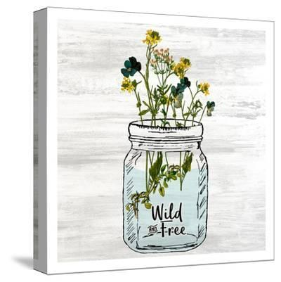 Wildflower Jar 3-Kimberly Allen-Stretched Canvas Print