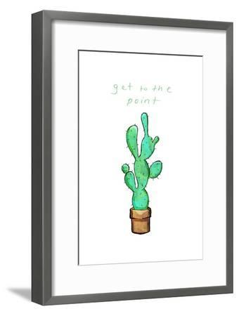 Get To The Point Cactus-OnRei-Framed Art Print