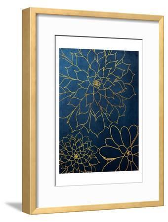 Navy Gold Succulent 3-Urban Epiphany-Framed Art Print