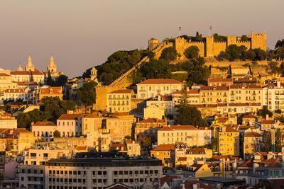 Castelo de Sao Jorge, Lisbon, Portugal-Mark A Johnson-Framed Photographic Print