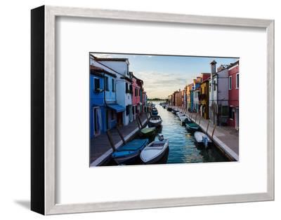 Burano, Venice, Italy, Europe-Mark A Johnson-Framed Photographic Print