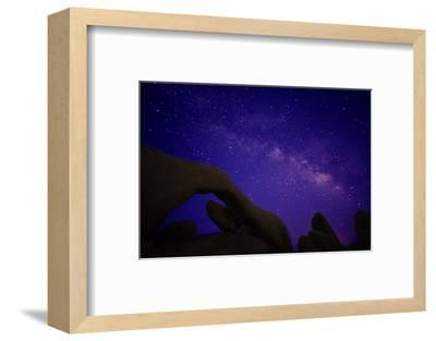 Scenic view of rock formations, Joshua Tree National Park, California, USA-Panoramic Images-Framed Photographic Print
