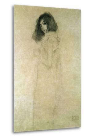 Portrait of a Young Woman, 1896-97-Gustav Klimt-Metal Print