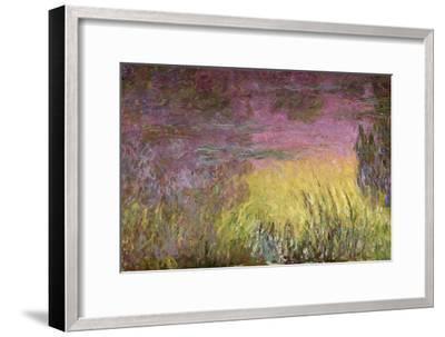 Waterlilies at Sunset, 1915-26-Claude Monet-Framed Giclee Print