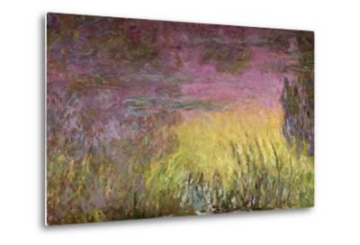 Waterlilies at Sunset, 1915-26-Claude Monet-Metal Print